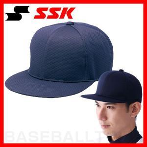 SSK 野球 帽子 6方型 ツバフラットタイプ ネイビー BC068-70 野球帽 練習帽 ベースボールキャップ メンズ|bbtown