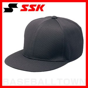 SSK 野球 帽子 6方型 ツバフラットタイプ ブラック BC068-90 野球帽 練習帽 ベースボールキャップ メンズ|bbtown