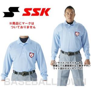 SSK 野球 審判用長袖ポロシャツ UPW028 審判用品 大人 野球ウェア|bbtown