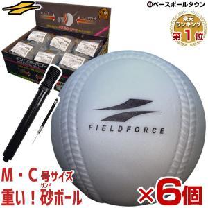 お得な6個セット 砂トレ アイアンサンドボール 軟式A・C号サイズ 大きさそのまま&重さ約3倍  フィールドフォース