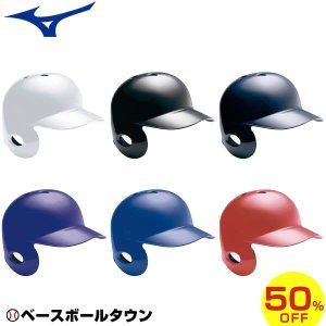 ミズノ 野球 ヘルメット 軟式 左打者用 2HA317