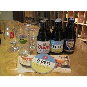 ベルギービールの中でもとても人気のあるビールをタイプ別に3種類とそれぞれ3種類の専用グラスとコースタ...
