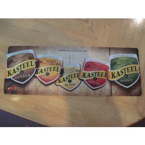 ベルギーのビールブランド「キャスティール」の特製ロングバーマットです。 長さ58.5cm 幅22cm