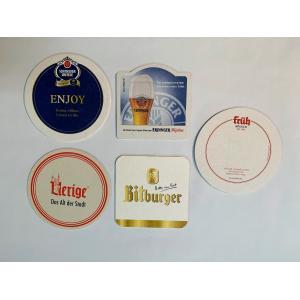 ドイツビールのビアコースターを5種類2枚づつ10枚を1セットにしました。  <セット内容> ●ツム・...