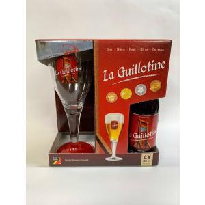 恐怖のギロチン台がラベルになっていますベルギービールのギロチン330mlとギロチンのイメージから造ら...