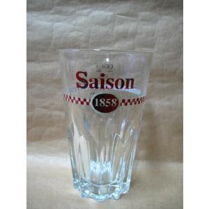 ベルギービールのセゾン1858ビールを美味しく飲む為の専用グラスです 直径6cmx高さ14cm