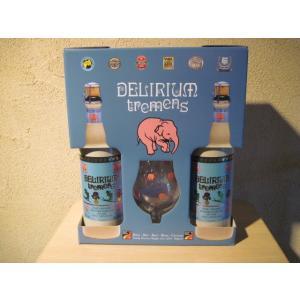 ベルギービールの中でも非常に人気のあるデリリュウム トレメンス750mlと専用グラスがセットになった...