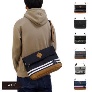 杢色が珍しいポリキャンバス素材の使い勝手のいいショルダーバッグ。 カジュアルな素材でいながら、品よく...