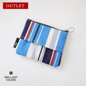 ストライプ ポーチ 小さめ おしゃれ 日本製 プレゼント ギフト 可愛い  ティッシュ入れ bcolors