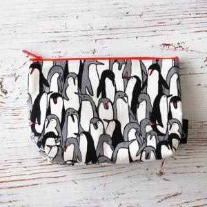 コスメポーチ 小物入れ プレゼント  かわいい 化粧ポーチ ペンギン 動物|bcolors