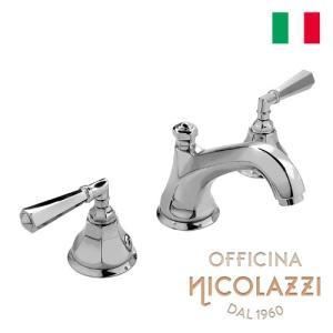 数量限定 洗面水栓 蛇口 交換 混合水栓 イタリア製 三つ穴用 8インチ 吐水口高8.1cm Nicolazzi ニコラッツイ 1908-05 bcube