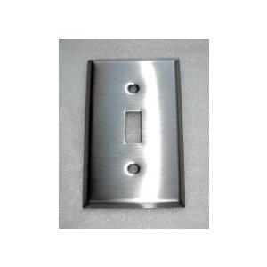 アメリカンスイッチプレート(ステンレス)1連  [幅7×高11.5cm] 1HSSP bcube