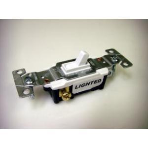 アメリカンスイッチ COOPER社公認 直輸入 方切スイッチ・ライト付 15A-125V PSEマーク 1WLS bcube