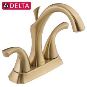 蛇口 交換 混合水栓 節水 3穴用 シャンパンブロンズ 吐水口高12.4cm DELTA デルタ Adison 2592-CZMPU-DST bcube