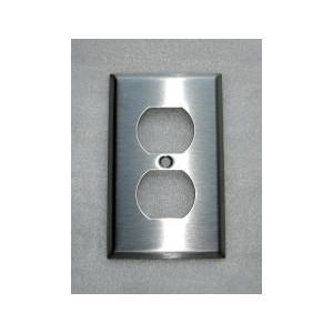 アメリカンコンセントプレート(ステンレス)2口  [幅7×高11.5cm] 2HSCP bcube