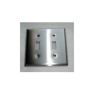 アメリカンスイッチプレート (ステンレス)2連  [幅11.5×高11.5cm] 2HSSP bcube