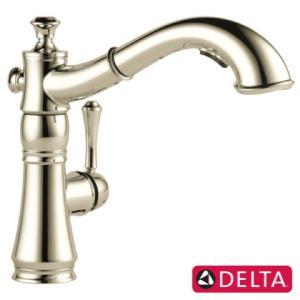 キッチン 混合 シャワー 水栓 節水 奥行25.8×吐水口高20.2cm DELTA デルタ キャシ...