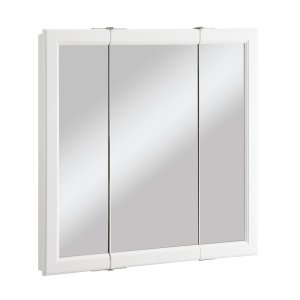 -売り切れ-7月下旬入荷予定 ミラーキャビネット 三面鏡 収納 ホワイト(白) 幅76.2×高76.2cm 545-293 bcube