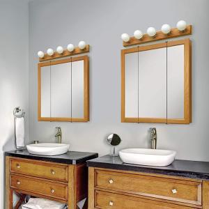 -売り切れ-8月中旬頃再入荷予定 ミラーキャビネット 三面鏡 収納 オーク 幅76.2×高76.2cm 545-301 bcube