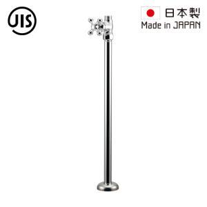 ストレート止水栓 床給水タイプ シルバー(銀) 420mm 709-600-13  代引決済不可 bcube