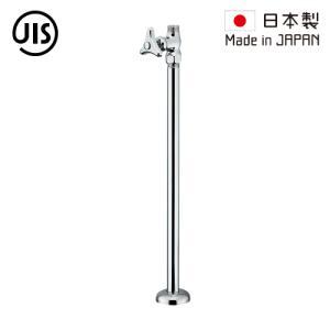 ストレート止水栓 床給水タイプ シルバー(銀) 300mm 7096M  代引決済不可 bcube