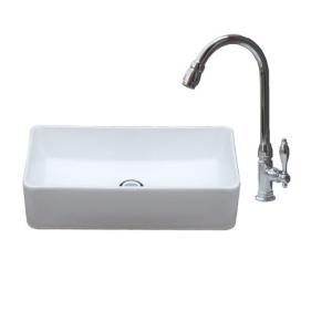 洗面台 交換 洗面ボウル おしゃれ 白 ホワイト リフォーム 陶器製 3点セット 新生活 大きい 置き型 幅46cm B-0405070hjset|bcube