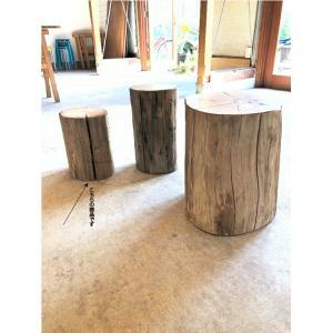 丸太 切り株 椅子 スツール 無垢 ヒバ ちっちゃいの 日本製 直径20×高30cm bh-001  代引決済不可|bcube
