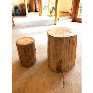 丸太 切り株 椅子 スツール 無垢 ヒバ でっかいの 日本製 直径30×高40cm bh-003  代引決済不可|bcube