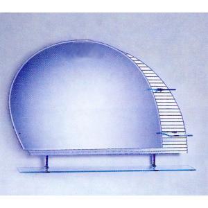 ミラー 鏡 洗面鏡 壁掛け 棚付き 幅100×高75cm CJ01 bcube