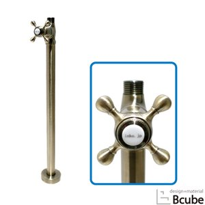 ストレート止水栓  床給水タイプ クロスハンドル アンティークゴールド(古金) INK-0304034G bcube