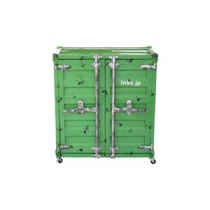 洗面台 洗面化粧台 収納 コンテナボックス スチームパンク 幅76×奥行44.5×高さ86cm INK-0501083H|bcube
