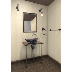 洗面台 交換 ガラス洗面ボウル 単水栓の9点セット SMP-1 INK‐0504073Hset1|bcube