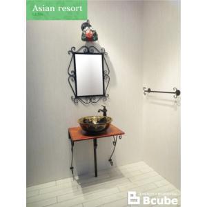 洗面台 セット おしゃれ リフォーム 交換 混合水栓の7点セット ASR-3 INK-0504092Hset2|bcube