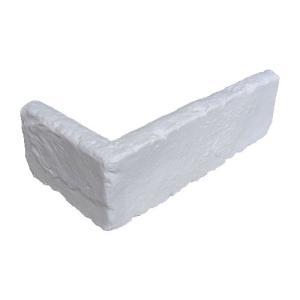 ポリウレタンレンガ 5個セット コーナータイプ 外装材 装飾 ホワイト(白) 長さ19.5×高6.5cm INK-066Cimp bcube