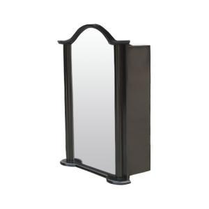 ミラーキャビネット(右開口) PVC製 洗面収納 ブラック(黒) 幅52×高72.5cm INK-0702011H bcube
