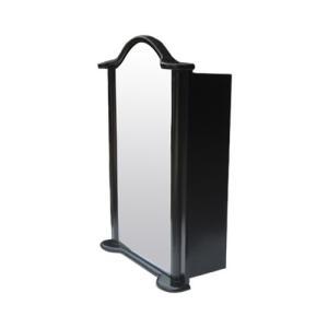 ミラーキャビネット(左開口) PVC製 洗面収納 ブラック(黒) 幅52×高72.5cm INK-0702012H bcube
