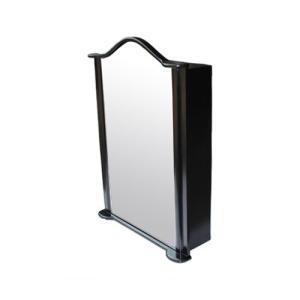 ミラーキャビネット(右開口) PVC製 洗面収納 ブラック(黒) 幅67×高93cm INK-0702015H bcube