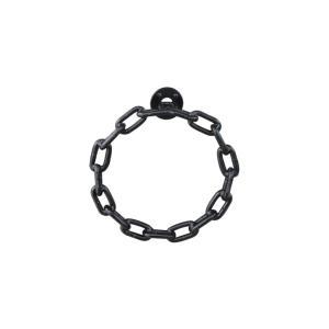 タオルリング チェーン アイアン製 ブラック(黒) 幅22cm INK-0801089H|bcube