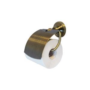トイレットペーパーホルダー アンティークゴールド(古金) おしゃれ サニタリー シングル 幅14cm INK-0801107H|bcube