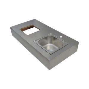キッチン シンク/右水槽 ステンレス製 幅120cm INK-0901014G|bcube
