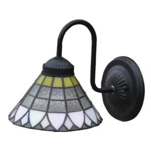 照明 壁 ウォールランプ アイアン ステンドグラス 幅18×高21cm INK-1001017H|bcube