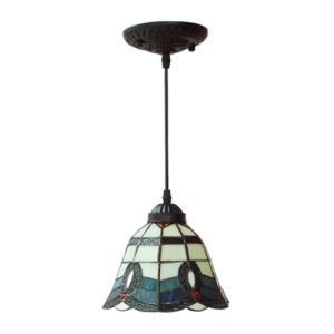 照明 天井 ペンダントランプ アイアン ステンドグラス 幅19×高93cm INK-1002007H|bcube