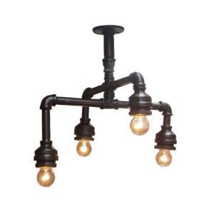 照明 天井 シーリングランプ インテリア ガス管 アイアン 幅41×高36.5cm INK-1003003H|bcube