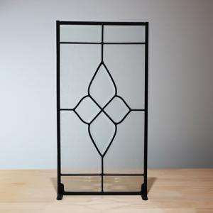 ステンドグラス 窓枠 ドア アイアン 幅25cm INK-1103005H|bcube
