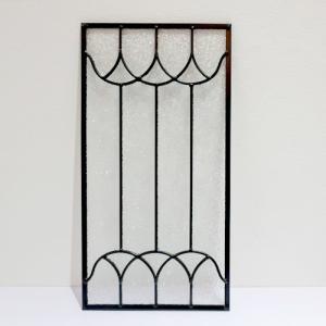 ステンドグラス 窓枠 ドア パネル アイアン 幅25×高48cm INK-1103025H|bcube