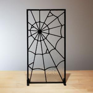 ステンドグラス 窓枠 ドア パネル アイアン 幅25×高48cm INK-1103026H|bcube