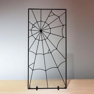 ステンドグラス 窓枠 ドア パネル アイアン 幅42×高88cm INK-1103027H|bcube