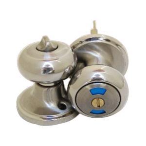 ドアノブ 内鍵付き 表示錠 アンティーク風 シルバー(銀) INK-12070062G|bcube