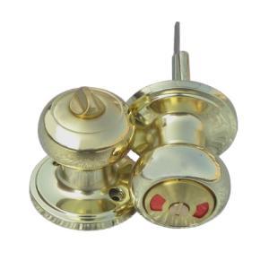 ドアノブ 内鍵付き 表示錠 アンティーク風 ゴールド(金) INK-1207009H|bcube