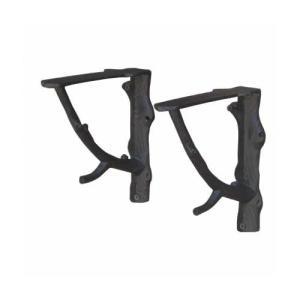 ブラケット シェルフサポート 棚受け 1セット/2個 アイアン 奥行18×高18cm INK-1401211H|bcube